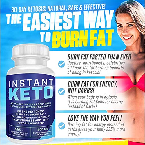 Instant Keto - Advanced Weight Loss with Metabolic Ketosis Support - 800MG - 60 Pills - 30 Day Supply 5