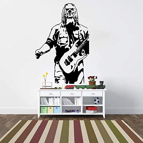 Gran cantante de guitarra music super star para niños pared vinilo adhesivo de pared