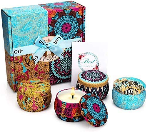 YINUO LIGHT Candele Profumate Set Regalo, Aromatiche Candele Set...