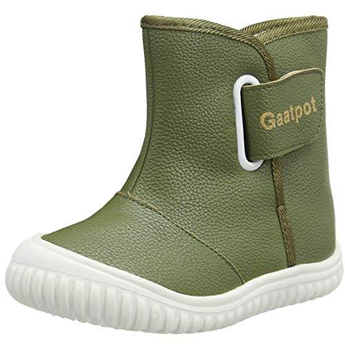 Gaatpot Unisex Bebé Zapatos de Invierno Moda Botas de Nieve Botines Calzado Piel sintética Termica Además Boot 21-29/29.5EU