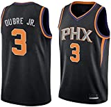 Men's Trail T-Shirt Suns Oubre 3# Jersey Kelly Youth Icon Edition Swingman Jersey Short Sleeve Sport Top,Black,Medium