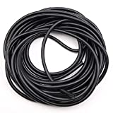 10FT Black Latex Rubber Tubing,3/8in OD 1/4in ID Black ONE Continuous Piece