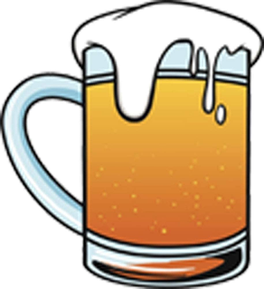 Amazon Com Large Lager Beer Mug Cartoon 2 Vinyl Decal Sticker Arts Crafts Sewing