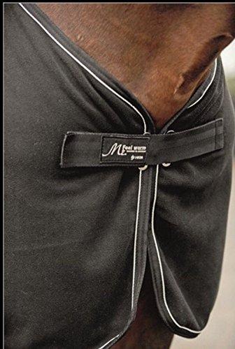 HKM 44209171.0030 Abschwitzdecke Mr. Feel Warm mit Halsteil, schwarz/silber - 2