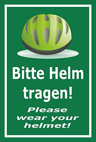 Melis Folienwerkstatt sticker schild - Gelieve helm te dragen - S00050-091-G