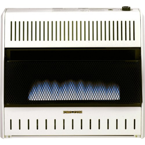 TAMEHOM MF21455UYI Please See Replacement Item# 49195. ProCom Blue Flame Vent-Free Wall Heater-30,000 BTU Output, 1000 Sq. Ft. Heating Capacity, Model# MD300TBA, Medium, White