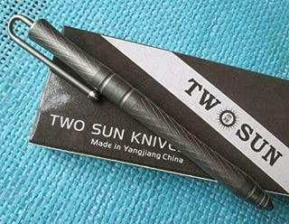 TwoSun EDC Full TC4 Titanium Alloy Tactical Office Pocket Pen TS-Pen04-Sand
