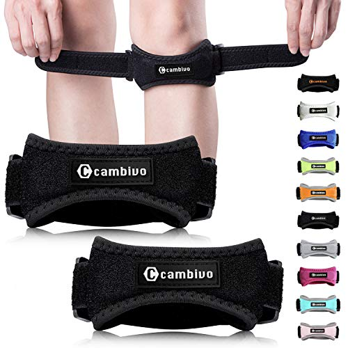 CAMBIVO Patella Knee Strap, 2 Pack Pain Relief Knee Brace & Patellar Tendon Support Band for...