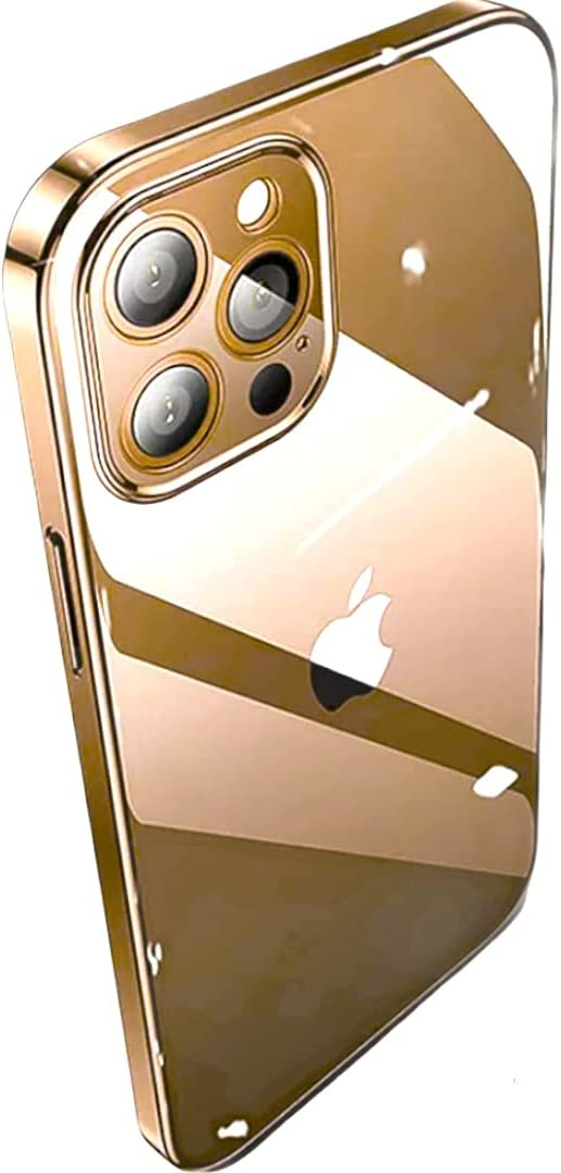 N.N Compatible for iPhone 13 Pro Crystal Clear case Transparent TPU Anti Yellow 6.1''inch Cover Slim Thin Shockproof 2021 Bumper Color (Rose Gold)
