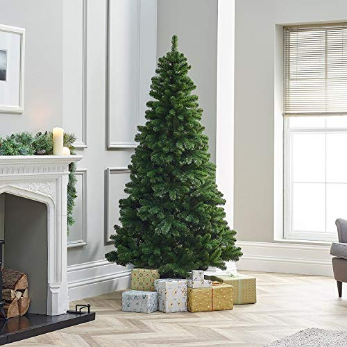 TrendMakers 7ft Green Pine Xmas Tree Artificial Christmas Tree | 1000 Branch Tips | With Metal Stand
