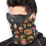 Photo de ShiHaiYunBai Tour de Cou Cagoule Microfibre Chapeaux Tube Masque Visage, Neck Gaiter Warmer Windproof Mask Dust - Free UV Face Mask - Fast Food