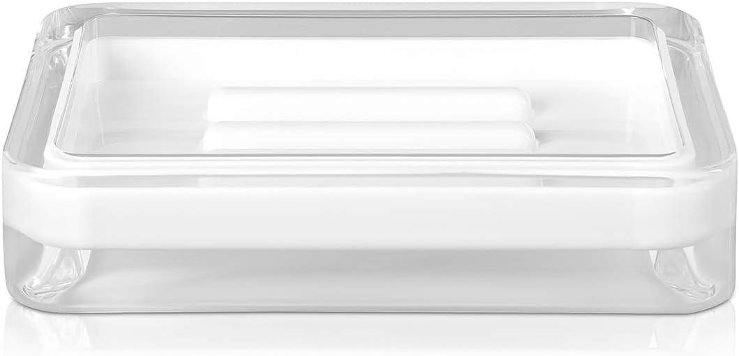 Möve Line soap Dish 12 x 8 2 Soldering Acrylic 5 Made White cm Genuine of