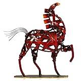 Tooarts Metal Horse Sculpture Animal Regalos Ornamento Artesanía Hogar Salón Oficina Decoraciones Regalo