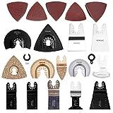 Oscillating Tool Blades, HEMUNC Oscillating Multitool Saw Blades Accessories Kit 64pcs for Dewalt, Fein Multimaster, Bosch, Dremel, Makita, Milwaukee, Rockwell, Ryobi, Craftsman, Ridgid