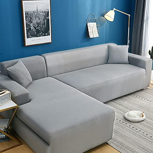 WXQY Funda de sofá de Color sólido de Alta Elasticidad sofá Moderno Chaise Longue Esquina en Forma de L Funda de sofá elástica Funda de sofá A8 1 Plaza