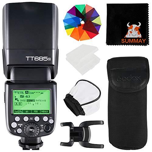 【Godox正規代理&技適マーク】GODOX TT685N ニコン用 クリップオンストロボ i-TTL 2.4G 無線マスターとス...