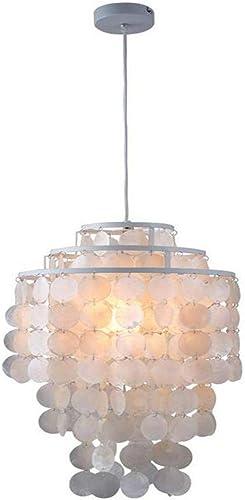 Plafonnier Art lumière Rétro Moderne Nordique Blanc Coquillage Naturel Suspendus Suspension Lampe Luminaire E27 Led Pour La Maison Déco Chambre Salon Restaurant