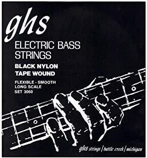 GHS 3060 Medium Tapewound Black Nylon Electric Bass 4 String Set (50-105)