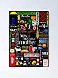 How I Met Your Mother Collage Poster Iconographic -