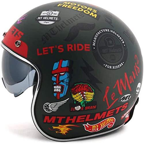 Il casco da motociclista ZHXH per donna, il casco da motociclista Harley Street...