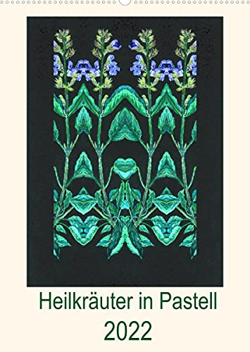 Heilkräuter in Pastell (Wandkalender 2022 DIN A2 hoch)