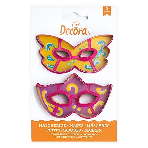 Decora 0255107 KIT 2 COUPOIRS pour Paste Masque, Plastique