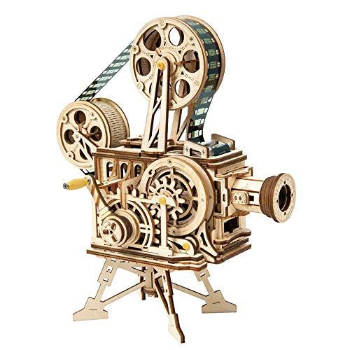 3D Holzsimulationsmodell, Modell for Kinder oder Erwachsene Art Gehirn Notfall Holzspielzeug Mechanische Construction Kit - Vintage-Projektor (183 Komponenten) ddded 8bayfa
