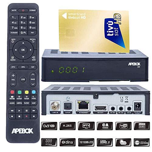 APEBOX S2,USB,CA,IPTV Receiver mit AKTIVIERTE TIVUSAT Karte Sender vorinstalliert (Astra+ Hotbird vorinstalliert)