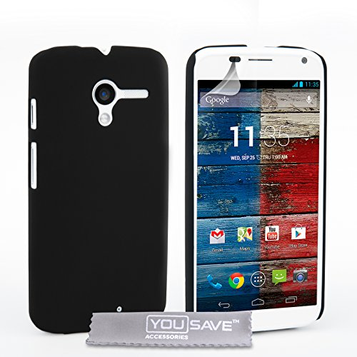 Yousave Accessories Cover per Motorola Moto X (2013 Versione) Ibrido Nero