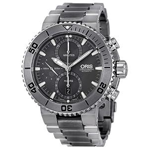 Oris Aquis Chronograph Grey Dial Titanium Mens Watch 01 674 7655 7253-07 8 26 75PEB image