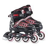 Zeroall Patin à Roues Alignées Rollers en Ligne pour Enfants Patins à roulettes Réglables Inline Skate avec Illuminées PU Roues Excellents Cadeaux pour Enfants Garçons Filles(Rouge)