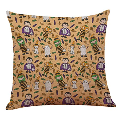 Pingrog laag Halloween, viering, pluizig schattig eenvoudige stijl hoeslaken voor thuis sofakussensloop moderne hoge bekleding katoen