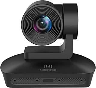 MOERTEK MC200S HD1080P Webcam with 4 Microphone Array 10X Zoom Lens Widescreen Video Calling and Recording, Automatically ...