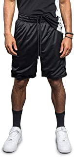 VICTORIOUS G-Style USA Men's Stylish Pro Striped Waistband Drawstring Athletic Track Shorts
