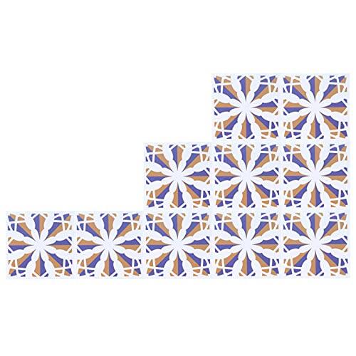 Pasta de pared de baldosas de cerámica, resistente al color 10PCS Hermosa etiqueta adhesiva impermeable para baldosas delicada para comedor(5)