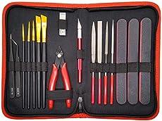 Hobby Tools 17 Pcs | Gundam Model Tool Kit - Adults Hobby Building Craft Set - Tools for Plastic Model Kits, Car Models, Miniatures and Airplane Model Kits