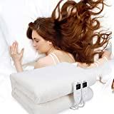 15Min Fast Heating Electric Warm Heated Blanket,Dual LED Controller,5 Heat Settings and Timer