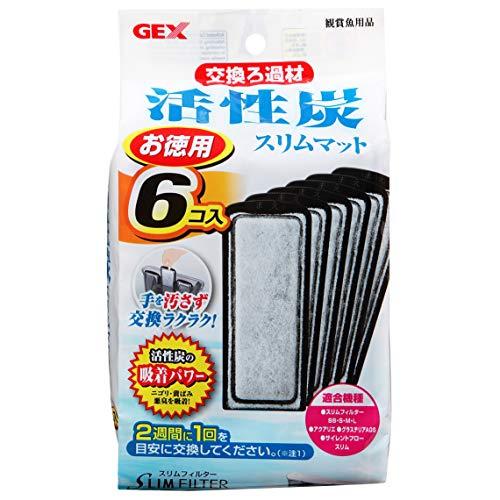 ジェックス 活性炭スリムマット スリムフィルター用交換ろ過材 6個入