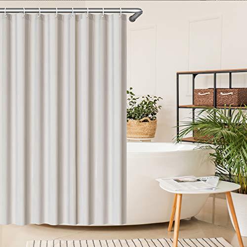 SeaFellows ® Duschvorhang (wasserabweisend) - Anti-Schimmel-Effekt - antibakterieller Badewannen Vorhang in grau - mit jeweils [12x] Befestigungsringen - 180x200cm - 3 Magnete als Fallgewicht