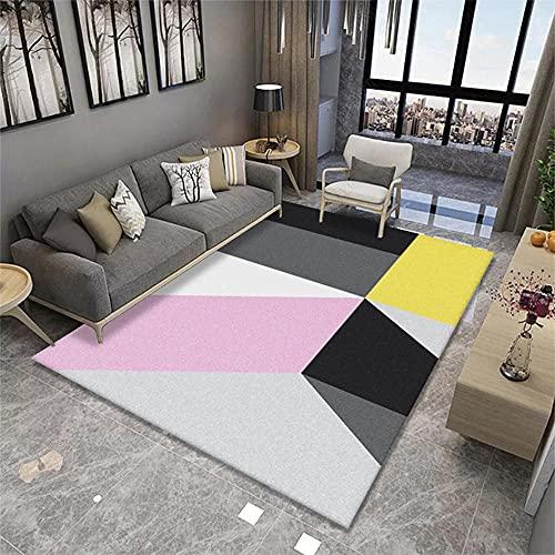 Rug Alfombras Infantiles Juegos Alfombra Rosa de la habitación para niños Tela de Cristal Suave y cómodo. Alfombras para Salon 180x280cm