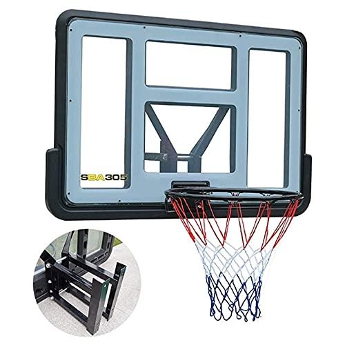 Canasta Baloncesto Interior para Niños y Adultos Moja de baloncesto de montaje en pared Objetivo for exteriores al aire libre,niños por encima de la puerta de la puerta Rebounder RIM,110×75cm,Easy Ass