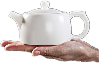 急須 バルクティーとティーバッグのための白磁のティーポットティーポットバブルホームセラミックティーポット (Color : White, Size : 230ml)