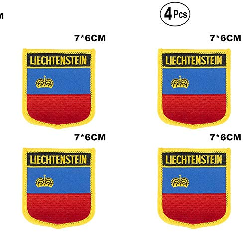 Liechtenstein Shiled Shape vlag patches nationale vlag patches voor Cothing DIY Decoratie
