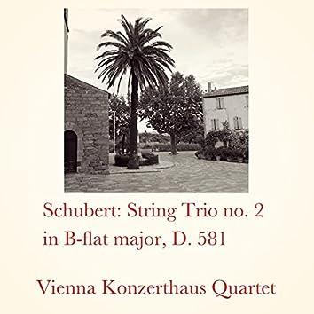 Schubert: String Trio No. 2 in B-Flat Major, D. 581