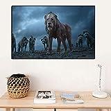 Decoración moderna del hogar Imágenes de animales para la sala de estar Arte...