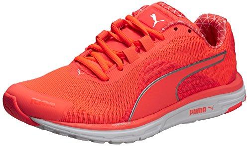 Puma Faas 500 V4 Power Warm, Zapatillas de Running Mujer, Naranja-Orange (Fiery Coral-Silver Metallic), 37 EU