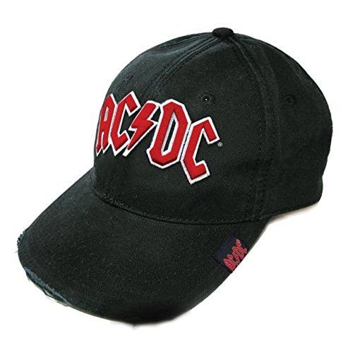 AC/DC - Casquette de baseball – Logo taille unique (noir/rouge).