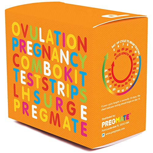 PREGMATE 50 Ovulation and 20 Pregnancy Test Strips Predictor Kit