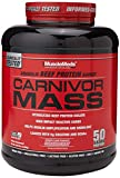MuscleMeds Carnivor Mass Anabolic Beef Protein Gainer, Strawberry, 6 Pound