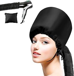 Cestmall Gorra de Secado de Pelo ortátil, Accesorio del Secador De Pelo De Bonnet Capucha Haircare Salon Secador de pelo Sombrero Accesorios para Mujeres Chicas (black)